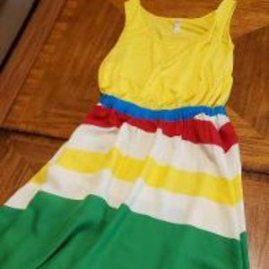 Casual Summer Dress - Primary Colors